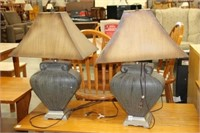 """PAIR OF TABLE LAMPS 29"""" H"""