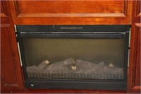 """ELECTRIC REMOTE FIREPLACE MANTLE 40"""""""