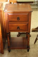 "2 DRAWER OCCASIONAL TABLE  17"" x 34"""