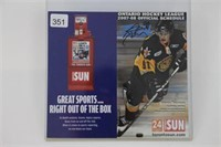 07-08 OHL SCHEDULE SIGNED BY STEVEN STAMKOS
