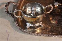 Silverplate tea server