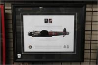 """Avro lancaster framed print.  22"""" x 18"""""""