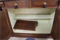"Early burrowed walnut wash stand.  36"""