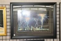 "Framed city print.  41"" x 32"""