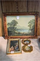 4 small framed pieces