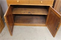 Early cupboard with 2 drawers.  47""