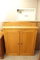 """Oak 2 door cupboard. 42"""""""