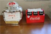 2 coca cola cookie jars.  1 no lid