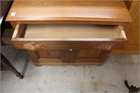 """Wash stand with carved poles.  32"""""""