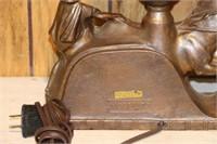 "Chariot lamp.  11"" x 12"""