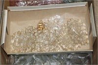 Box lot of chandelier crystals