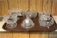 6 pieces of Pinwheel crystal