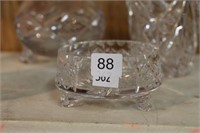 "5 pieces of Pinwheel crystal.  2"" - 8.5"""