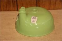 "Green glass juicer bowl.  7"""