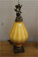 "2 cherub table lamps.  36"""