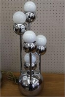 """2 chrome table lamps.  24"""""""