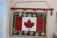 "Canada flag hanging tapestry.  36"" x 26"""