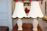 2 table lamps.  33""