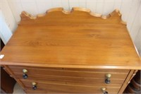 """Early 3 drawer chest with tear drop pulls  39"""""""