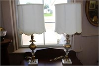 Pair of table lamps.  32""