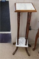 """Marble top plant stand.  40"""" Legs are loose"""