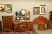 4 piece St. Barthelemy bedroom suite. Some damage