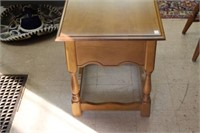 """Vilas end table with drawer.  20"""" x 26"""" x 23"""""""