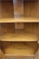 "Maple corner cabinet.  28"" x 14"" x 72"""