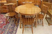"Vilas table, 5 chairs and 18"" leaf"