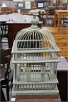 """WOODEN BIRD CAGE 21"""""""
