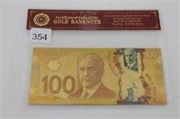 $100 CANADIAN FAKE BILL