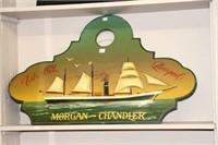 "MORGAN CHANDLER WOOD PLAQUE 34"" x 22"""