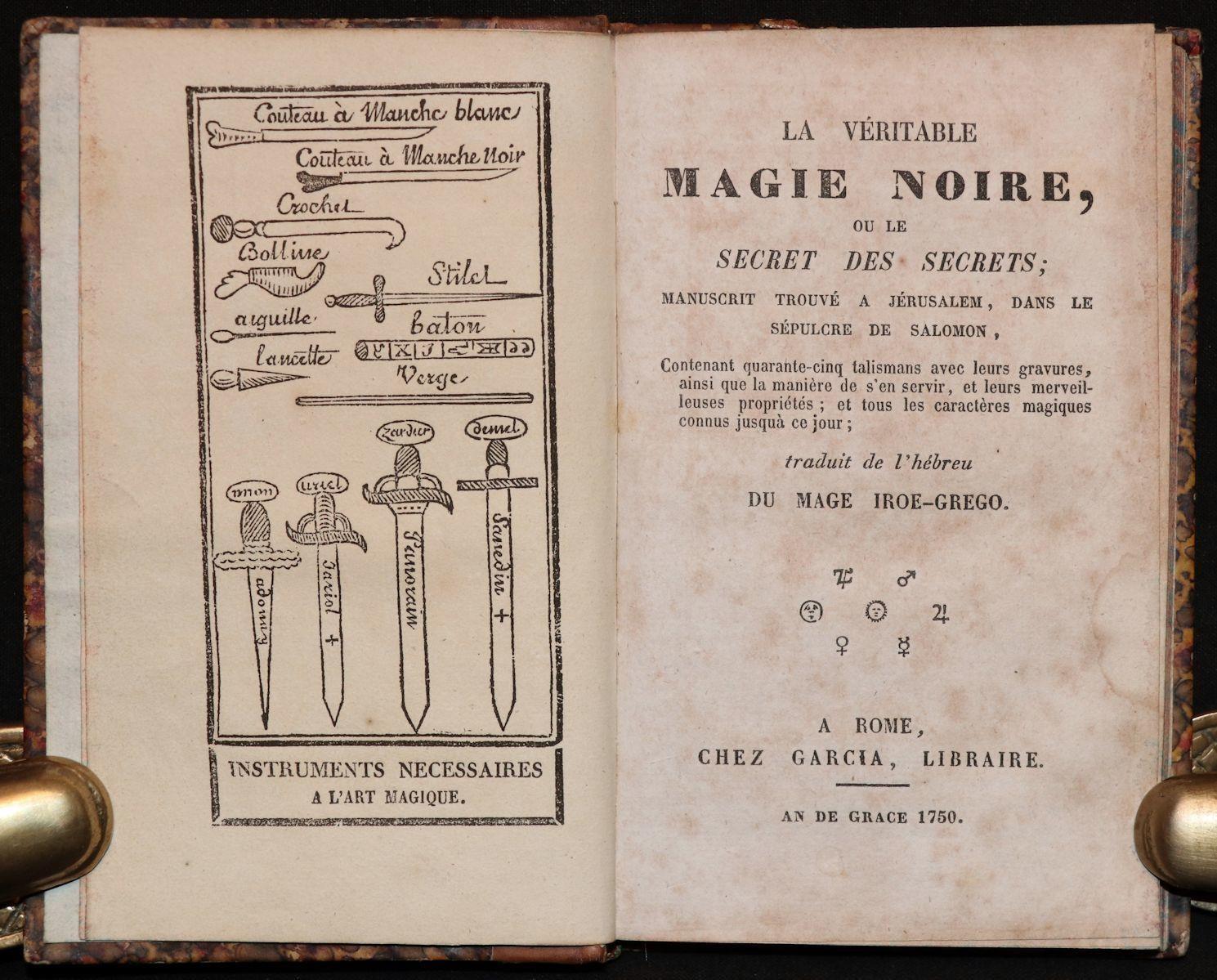 [Magic, Grimoire]  Magie Noire, Secret des Secrets