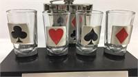 Flask and shot glass set monogrammed Vergil