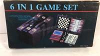 6 in 1 game set, desk radio, electric organizer