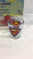 Superman shot glasses and goblet
