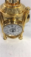 """10"""" tall metal clock weather station"""