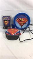 Superman alarm clock, nightlight, wall clock