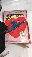 Superman Lot clock, large tee shirt, pin, fanny