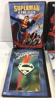 Group of 6 Superman DVD's cases have been wet