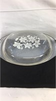 Flowered glass serving dish