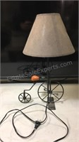 Bicycle table lamp 19 inches tall