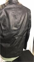 Superman Logo Black leather zip front motorcycle