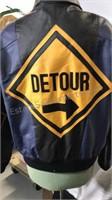 Detour Sign black / purple  leather zip front
