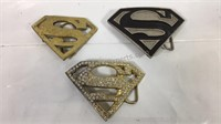 Superman Belt Buckles - lot of 3y