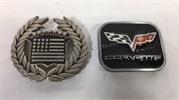 Cadillac and Corvette belt buckles