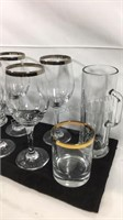 Group of bar glassware