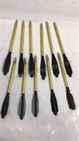 Group of 11 mini crossbow darts 6 1/4 inches long