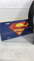 Superman license plate assortment and steering