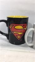 Group of 4 Superman Mugs